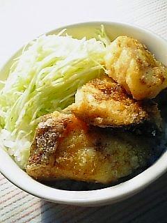 白身魚の竜田揚げカレー風1-1