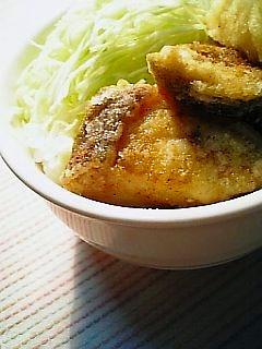 白身魚の竜田揚げカレー風1-2