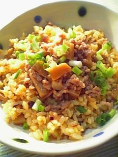 余り物でラーメンな炒飯1-1