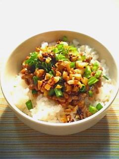 納豆御飯に一工夫1-1