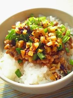 納豆御飯に一工夫1-2