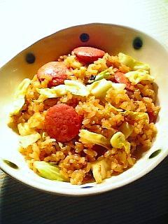 キムチ味炒飯1-1