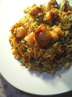 ホタテ焼き飯1-2