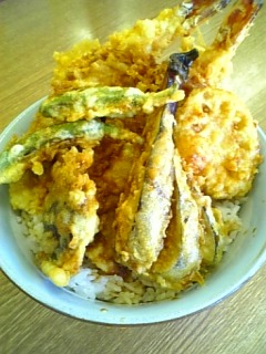 豊野亭の「黄金丼」1-2