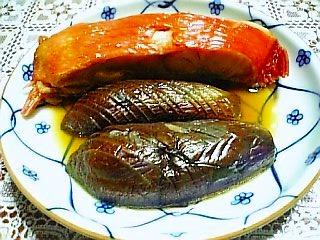 茄子と金目鯛の煮付け1-1
