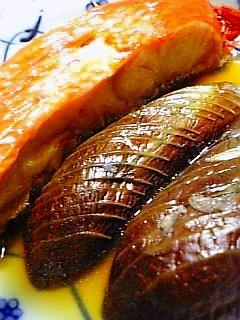 茄子と金目鯛の煮付け1-2