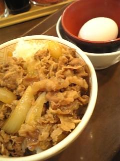 すき家の牛丼ミニ+玉子