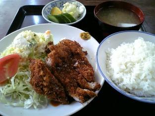 山田ホームレストラン本日の定食C ヒレカツ04