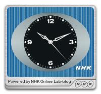 NHK時計-青ver