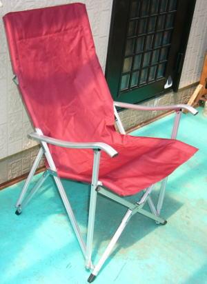 小川の椅子