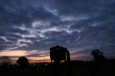 日曜日(11/26)の朝。愛機、α7の後ろ姿。