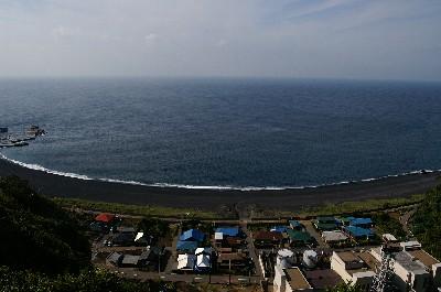 島の北側です。