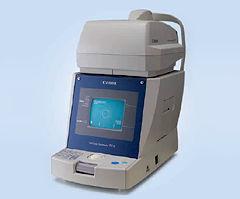 これは眼圧検査器。緑内障の検査で使う機械です。