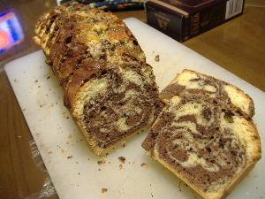 チョコのマーブルパウンドケーキ2