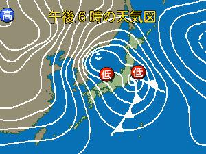 1月6日の天気図
