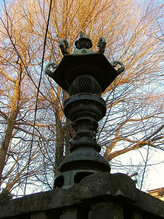 高城神社の常夜灯