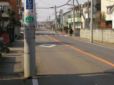 神保原を行く旧中山道
