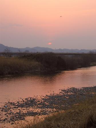 倉賀野・烏川の夕景