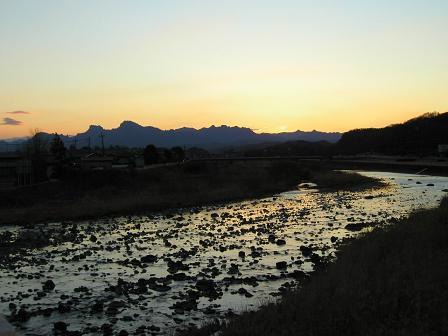 碓氷川と妙義山