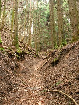 旧中山道はさらに山中へ