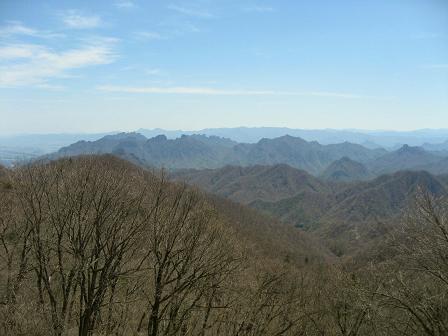 見晴台から眺める上州の山々