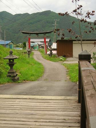 松尾橋を渡り長久保宿へ
