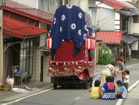 お祭りの平沢にて
