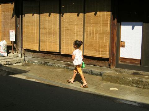 奈良井宿下町にて