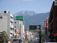 中津川駅前から見た「日本の屋根」
