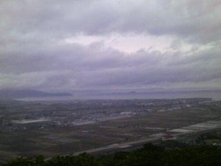 展望台から見た出水市