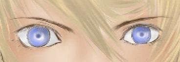 目のベース塗り。