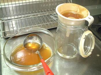 コーヒーフィルターで更に濾してみた