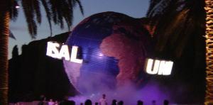 USJ夜の地球儀