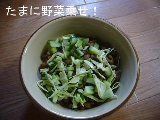 野菜のトッピング