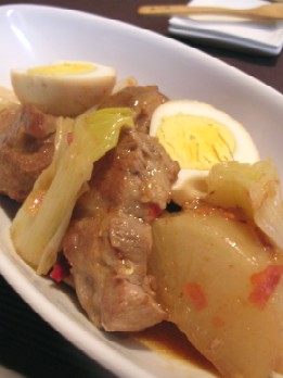 大根と豚肉のピリ辛オイスター煮
