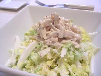 白菜とささみの簡単コールスロー