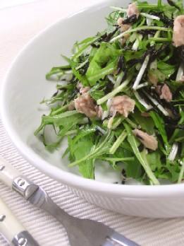 水菜とひじきのツナあえサラダ