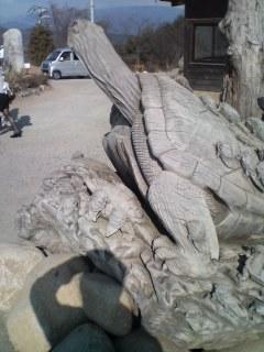 カメの彫り物。。