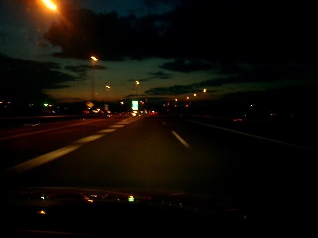 北関東道の夕焼け。