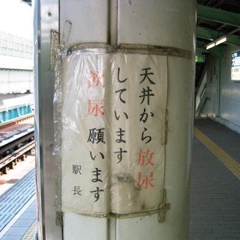 天井から放尿