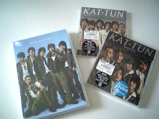 KAT-TUN Real Face(シングル)・Best of KAT-TUN(アルバム)・Real Face Film(DVD)