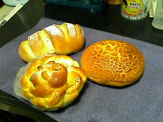 3種類のパン