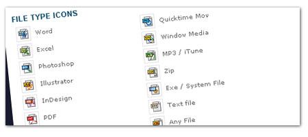 小さい圧縮ファイルなどのアイコン